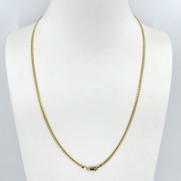 "14K Solid Yellow Gold Cuban Link Chain 20"" 7.4 Grams"