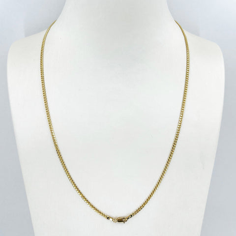 "14K Solid Yellow Gold Cubin Link Chain 20"" 7.4 Grams"