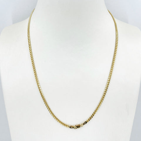 "14K Solid Yellow Gold Cubin Link Chain 18"" 10.3 Grams"