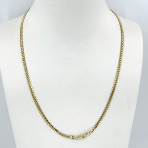 "14K Solid Yellow Gold Cuban Link Chain 18"" 4.5 Grams"
