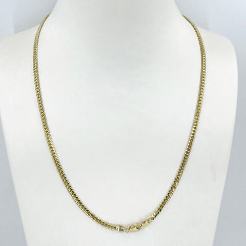 "14K Solid Yellow Gold Cubin Link Chain 18"" 4.5 Grams"