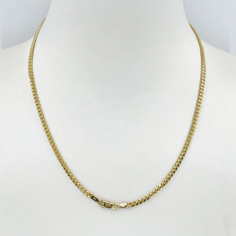 "14K Solid Yellow Gold Cubin Link Chain 16"" 9.2 Grams"