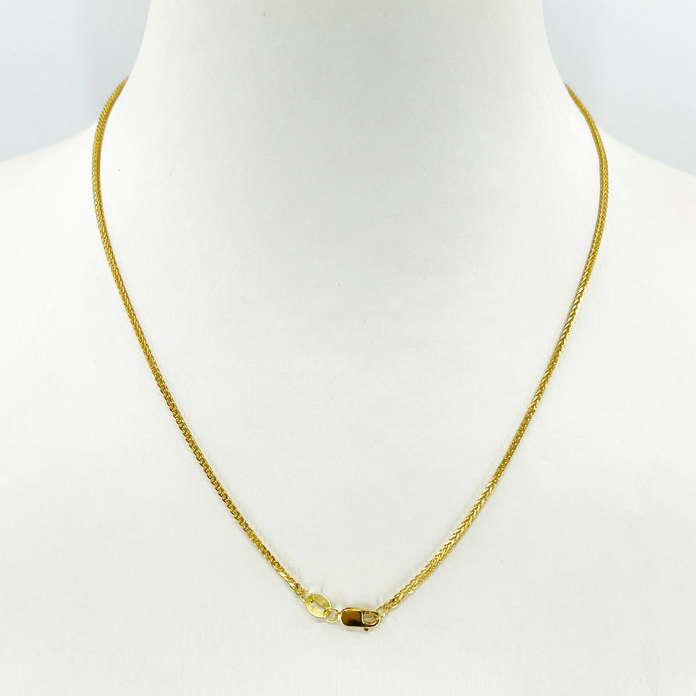 "18K Solid Yellow Gold Braided Chain 16"" 3.1 Grams"