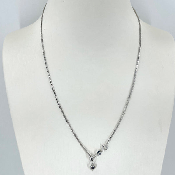 "18K Solid White Gold Adjustable Link Chain Maximum 18"" 3.6 Grams"