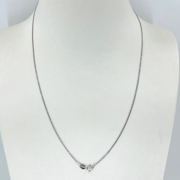 "14K Solid White Gold Link Chain 18"" 1.1 Grams"