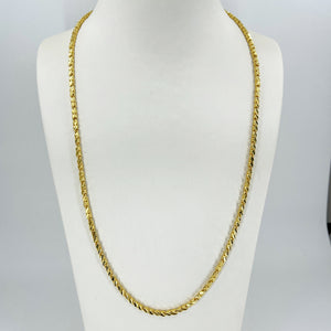 "24K Solid Yellow Gold Square Link Chain 35.9 Grams 24"" 9999"