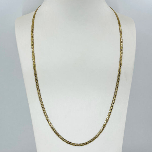 "14K Solid Yellow Gold Anchor Link Chain 24"" 10.2 Grams"