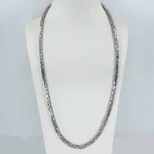 "14K Solid White Gold Super Link Chain 26"" 32.3 Grams"