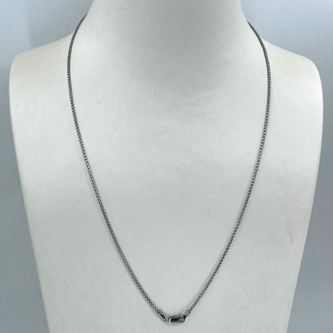 "14K Solid White Gold Cable Link Chain 20"" 2.8 Grams"
