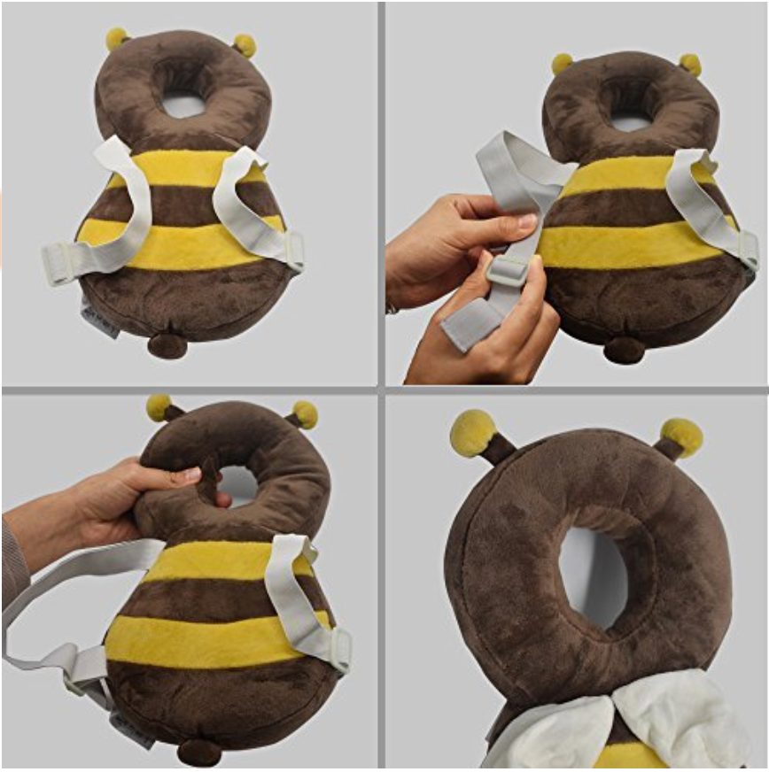 Bumble Bee Head Protector (4-24 months)