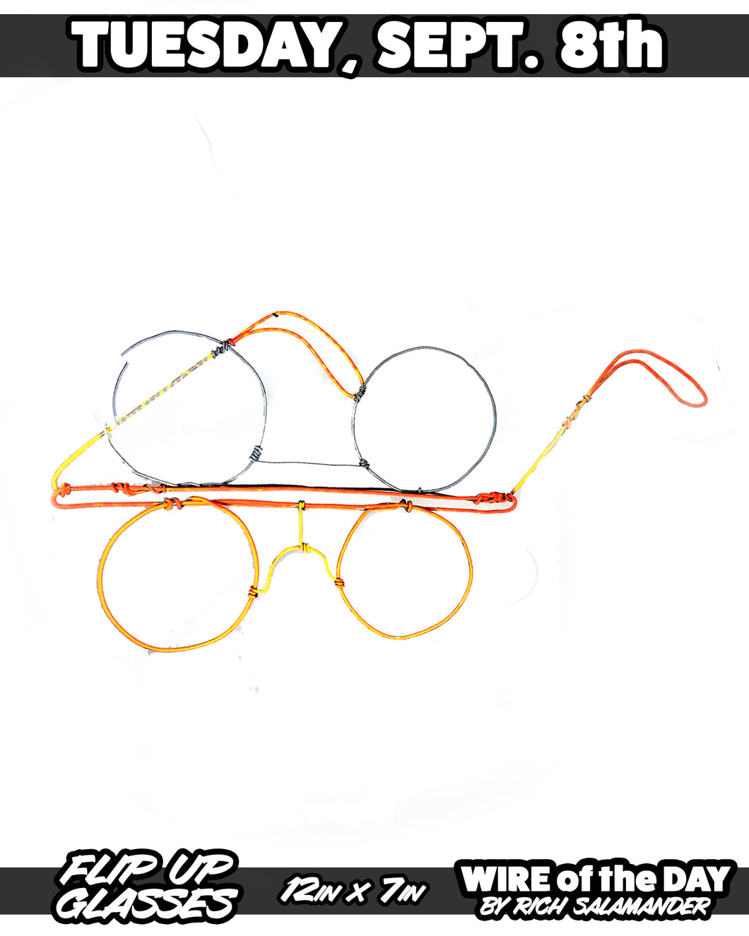 WIRE of the DAY FLIP UP GLASSES