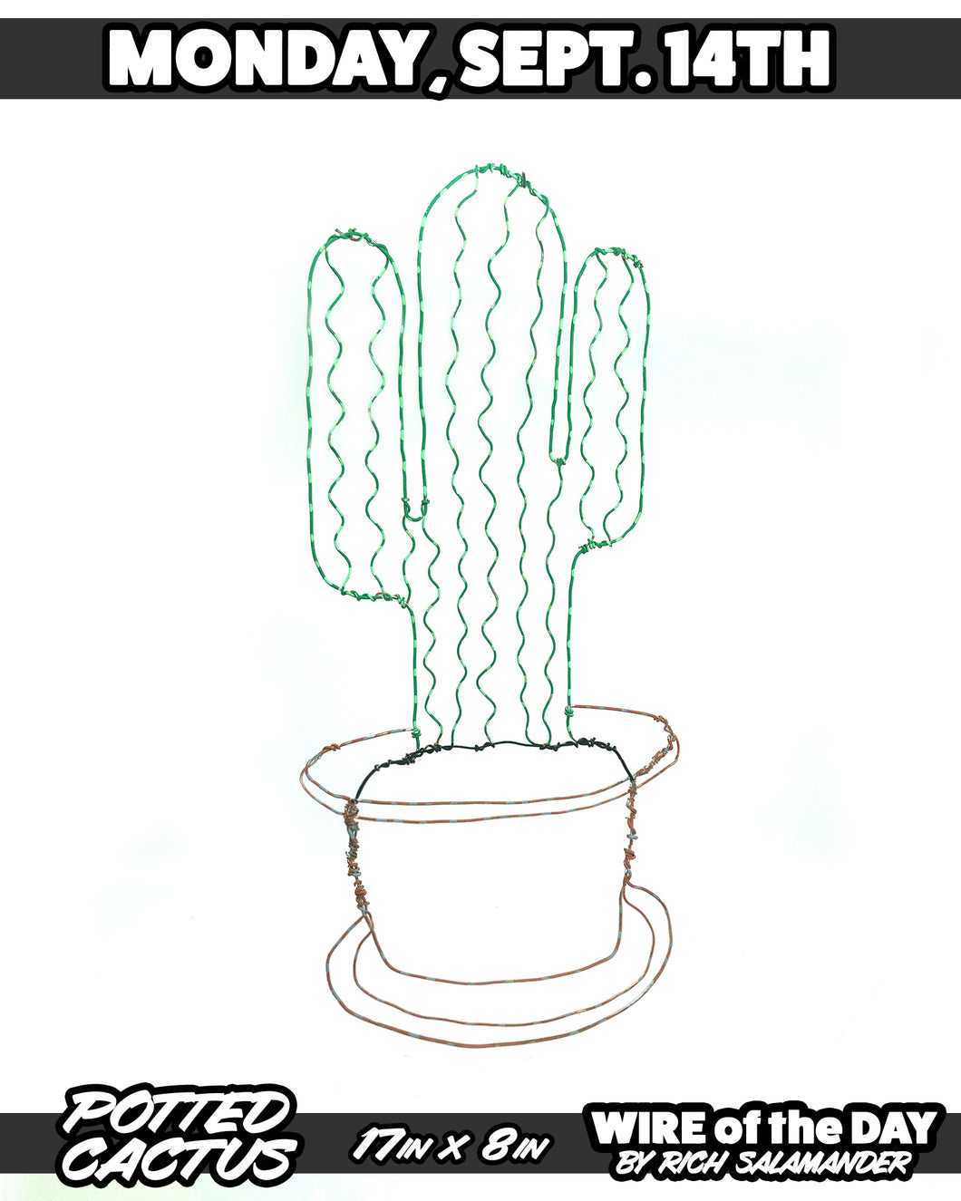 WIRE of the DAY POTTED CACTUS *