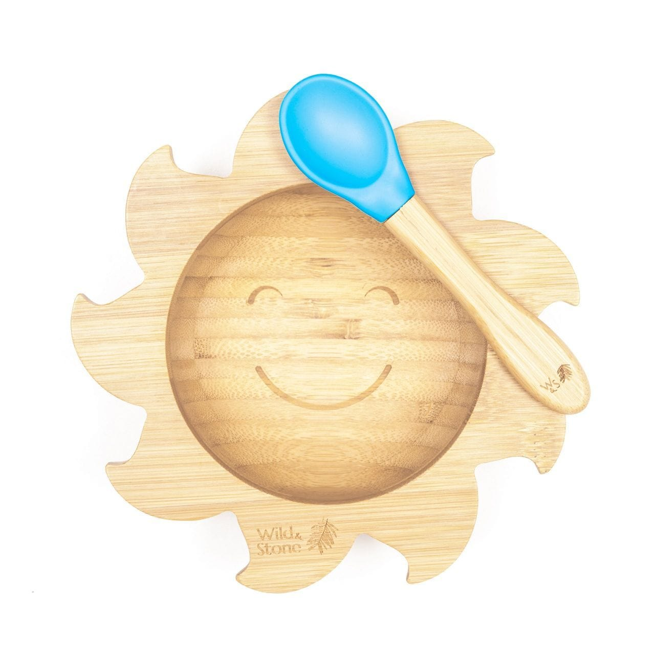 Wild & Stone - Baby Bamboo Bowl and Spoon Set, You are my Sunshine, Blue