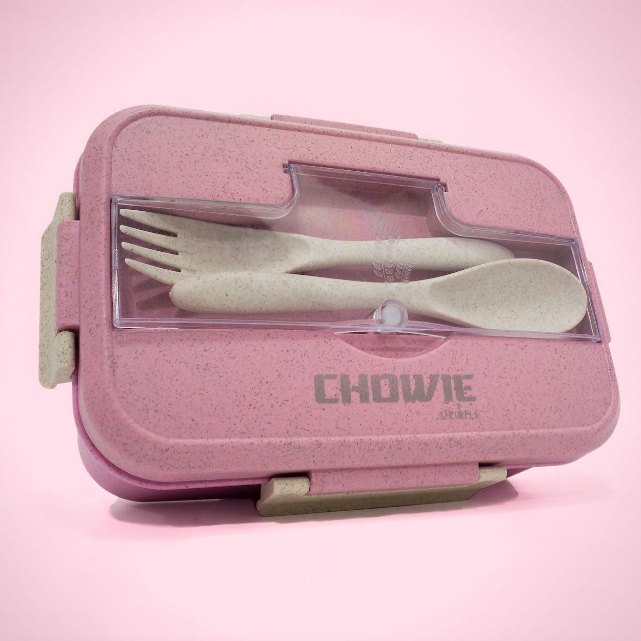 Shlurple Wheat Straw Lunch Box - Pink