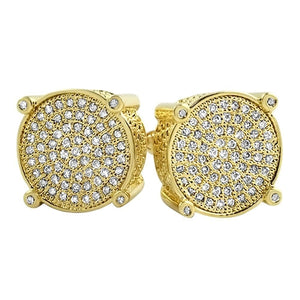 Circle Micro Pave CZ Bling Bling Earrings