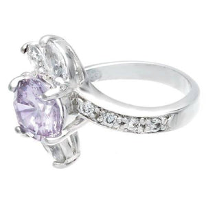Impressive Marquise Spray Cluster Lavender Ring