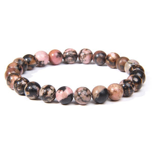Fashion Natural Stone Pink Angelite Beads Bracelet