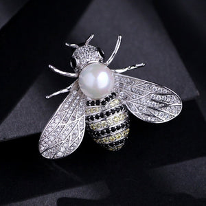 Insect Series Brooch for Women. Delicate Little Bee Brooch.
