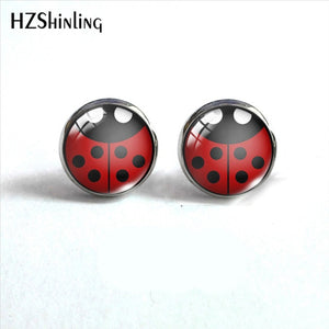 Ladybug Insect Stainless Steel  Earrings