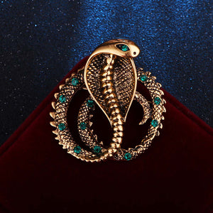 Retro Metal Pins Cobra Snake Brooch