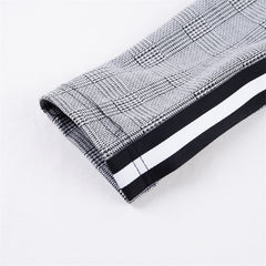 Elastic Stretchy Side Striped Pencil Pants