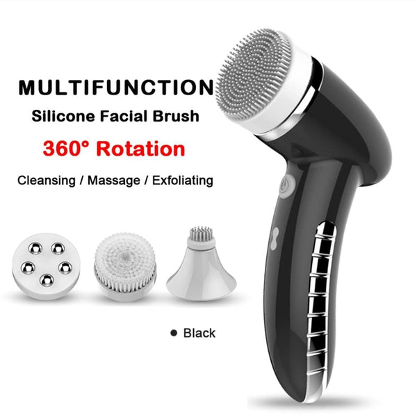 Facial Cleansing Brush Sonic Vibration - All4utoday