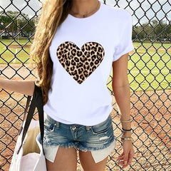 Heart Print Cotton Tshirt