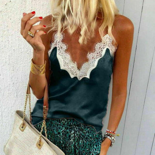 Summer Sexy Sequined Tank Top