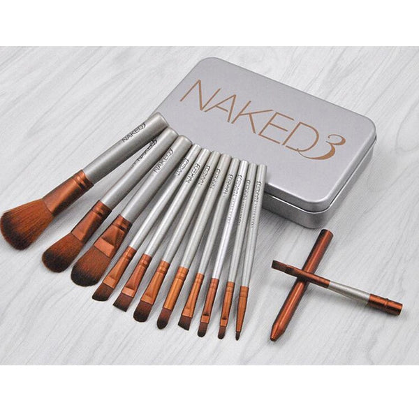 New Cosmetics 12Pcs Nake Brushes Cosmetics tools NK3 Rose Gold