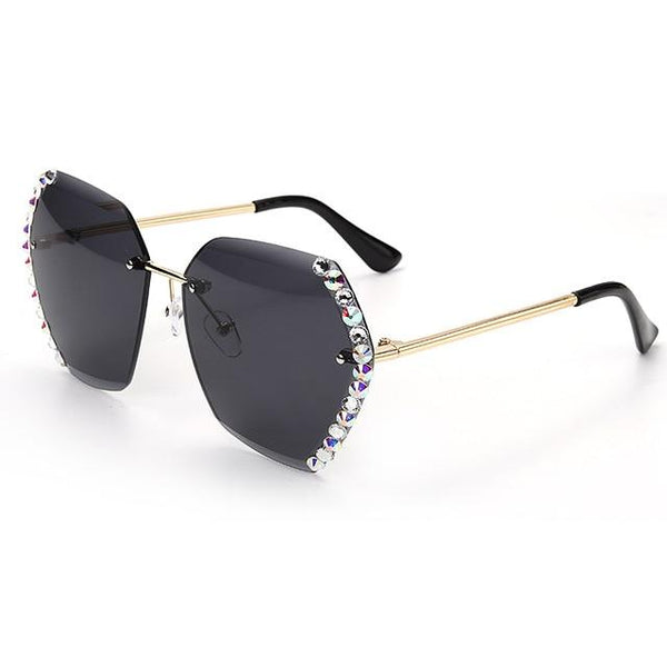 New Crystal Rimless Sunglasse - All4utoday
