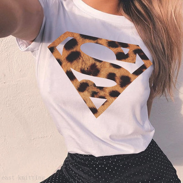 Superman Cat Vouge Female T-shirt