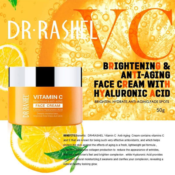 Vitamin C Face Cream Dull Skin Whitening Moisturiser - All4utoday