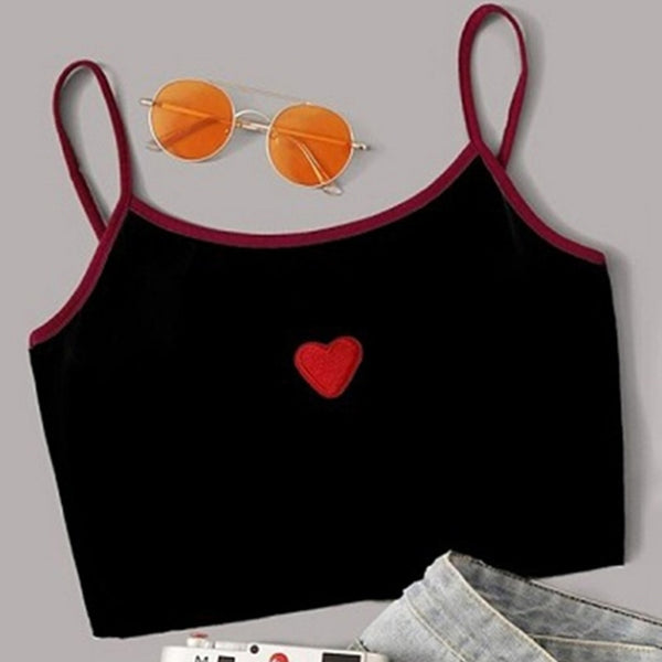 Women Crop Top Spaghetti Strap