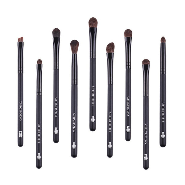 9pcs professional Natural pony hair makeup brushes