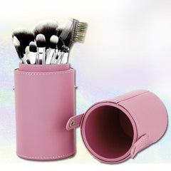 Leather Makeup Brushes Holder