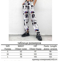 Women's Cotton Joggers With Print