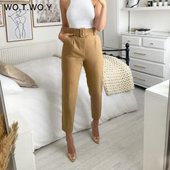 Elegant Formal High Waist Pants