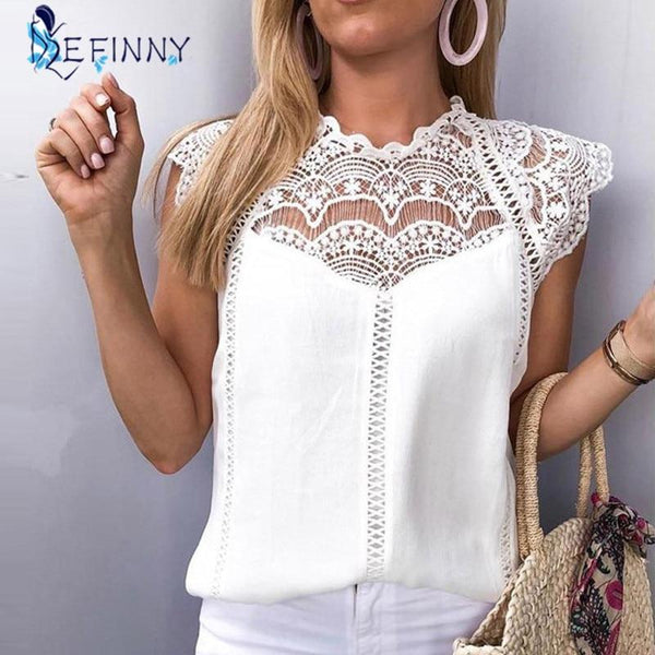 2020 Womens Tops Blouses Lace - All4utoday