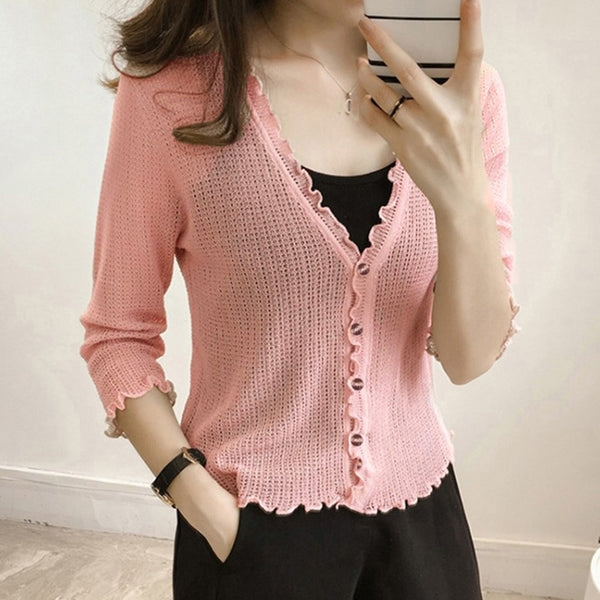 Casual Blouse V-Neck