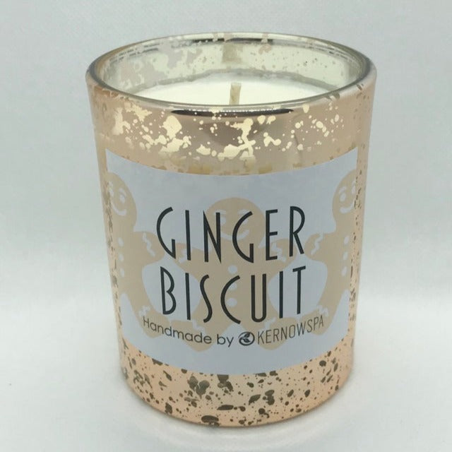Ginger Biscuit Sparkly Festive Scented Soy Wax Candle