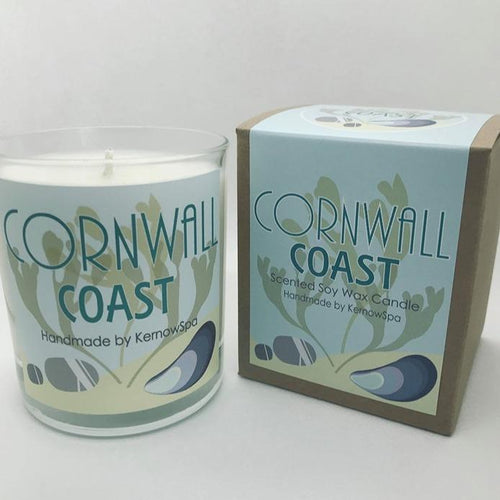 Coast Large Scented Soy Wax Candle - Kernowspa