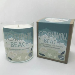 Beach Large Scented Soy Wax Candle - Kernowspa
