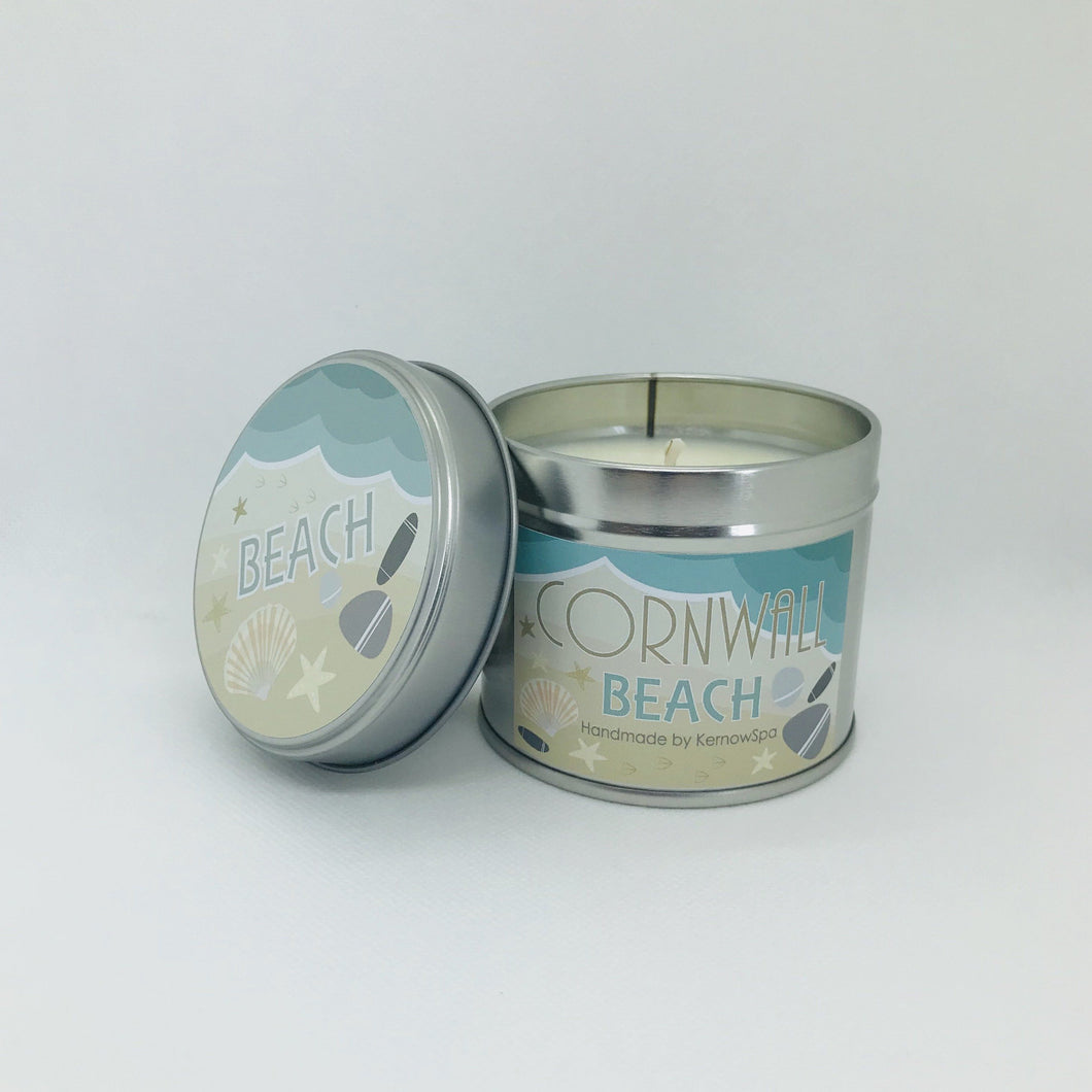 Beach Scented Soy Wax Candle Tin - Kernowspa
