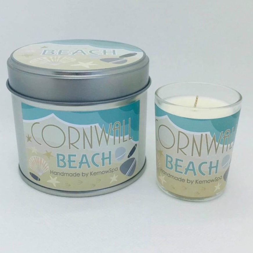 Beach Candle Tin and Matching Votive Candle