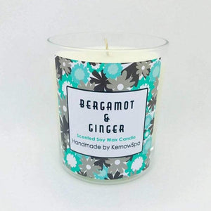 Bergamot & Ginger Scented Soy Wax Candle (Unpackaged)