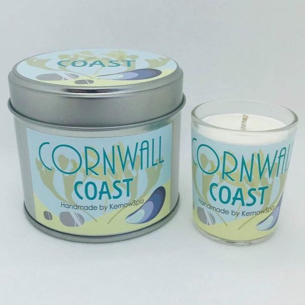 Coast Candle Tin and Matching Votive Candle