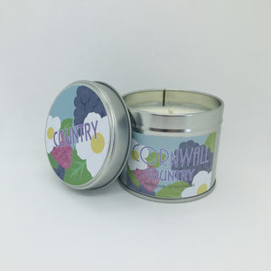 Country Scented Soy Wax Candle Tin - Kernowspa