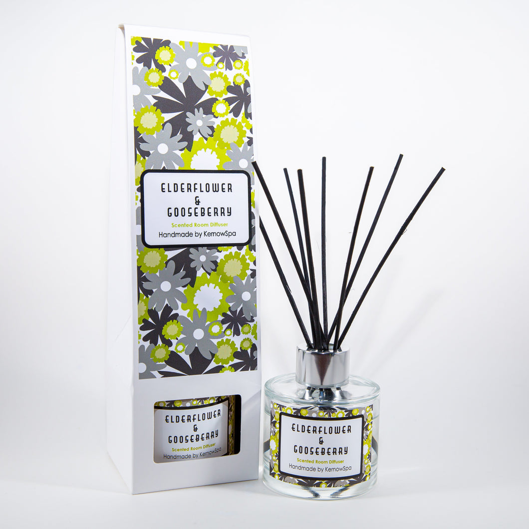 Elderflower & Gooseberry Scented Room Diffuser - Kernowspa