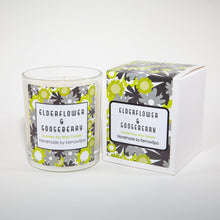 Load image into Gallery viewer, Elderflower & Gooseberry Scented Soy Wax Candle - Kernowspa