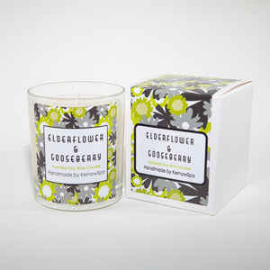Elderflower & Gooseberry Scented Soy Wax Candle - Kernowspa